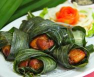 Kip in Pandan blad (kai ho bai tuy)
