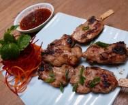 Thaise gegrilde kip sate