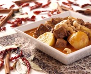 massaman curry met rundvlees